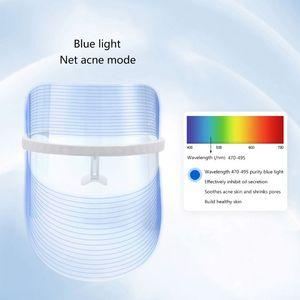 Image 4 - Light Therapy Facial Mask Anti Acne Wrinkle Facial Machine Device Skin Rejuvenation Moisturizing LED Mask Beauty 3 Color