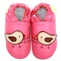 Zapatos de bebé de cuero niña bebé mocasines Pink Animal de la historieta del pájaro infantiles muchachos niño niños zapatos de niña bebé zapatillas calzado
