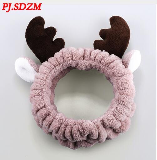 PJ.SDZM Sweet Girl Washing Face Headbands Velvet Soft Bow Tie Turban Fashion Unique Design Velvet Hair Accessory
