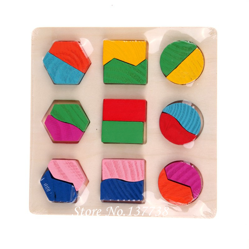 Hot Sale 1Pcs Wooden Square Form Puzzle Toy Tidlig Educational - Puslespill - Bilde 3