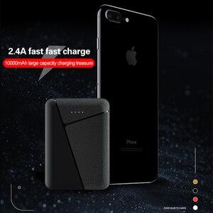 Image 5 - 10000mAh mini batterie externe 2.4A charge rapide borne chargeuse portable 2 USB banque de pauvreté batterie externe pour iPhone Xiaomi Huawei Samsung