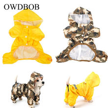 OWDBOB Dog Raincoat Pet Dog Puppy Waterproof Jacket Costumes Reflective Rain Coat Clothes Camouflage Cloak Casual Pet Supplies(China)