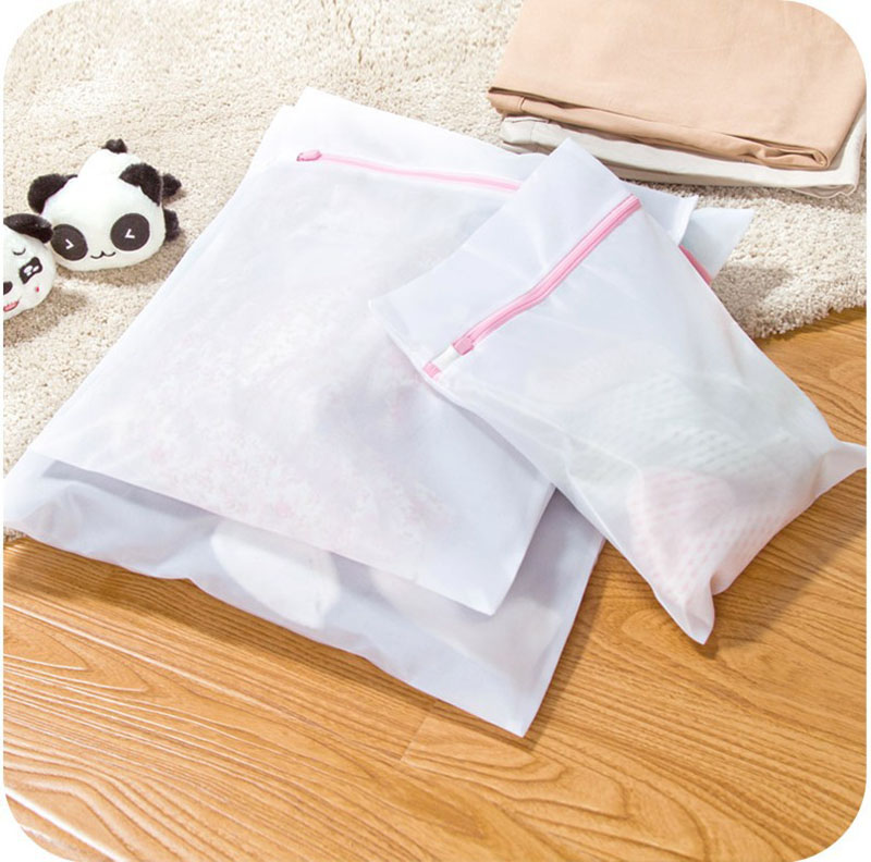 Laundry Supplies High Quality Thick White Fine Net Laundry Bag Washing Machine Special Underwear Laundry Bag Cleaning Bag