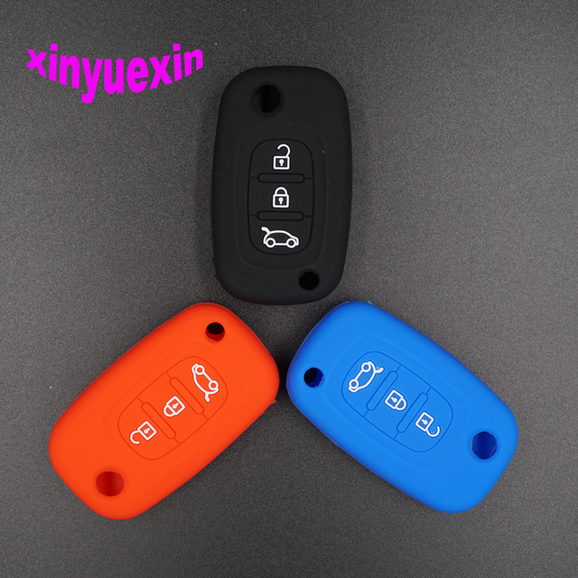 xinyuexin silicone car key cover fob case for renault fluence clioxinyuexin silicone car key cover fob case for renault fluence clio scenic megane duster sandero captur flip remote key case