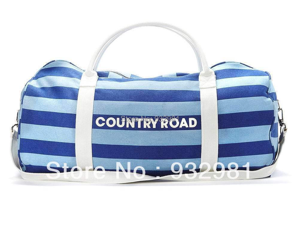 99ef545b0b2f Free shipping COUNTRY ROAD Canvas TRAVEL bag Tote shoulder travel ...