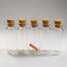 50pcs/lot 14ml clear glass vials 22*60mm Wishing drifting bottle with cork Home crafts Essential oil