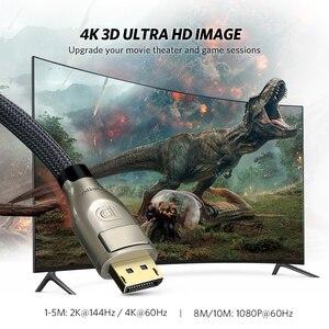 Image 2 - Ugreen Cáp DisplayPort To DisplayPort 144Hz Màn Hình Cổng Cáp 1.2 4K 60Hz Cho HDTV Card Đồ Họa Máy Chiếu DisplayPort To cáp DisplayPort To DisplayPort
