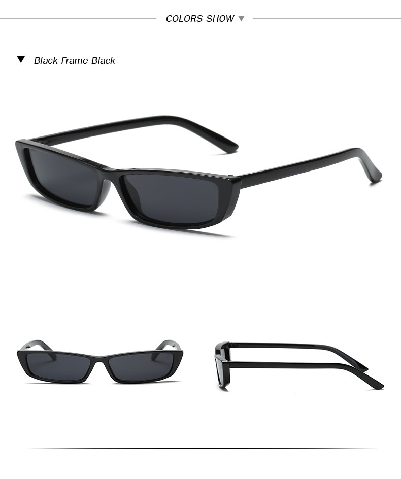 HTB16T9Dh9YH8KJjSspdq6ARgVXaa - Vintage Rectangle Sunglasses Women Brand Designer Small Frame Sun Glasses Retro Black Eyewear