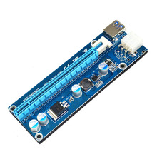 PCI-E PCI Express 1x до 16x Extender Riser Card Адаптер USB3.0 кабель SATA к 6Pin Кабель Питания для Bitcoin Mining 30 см