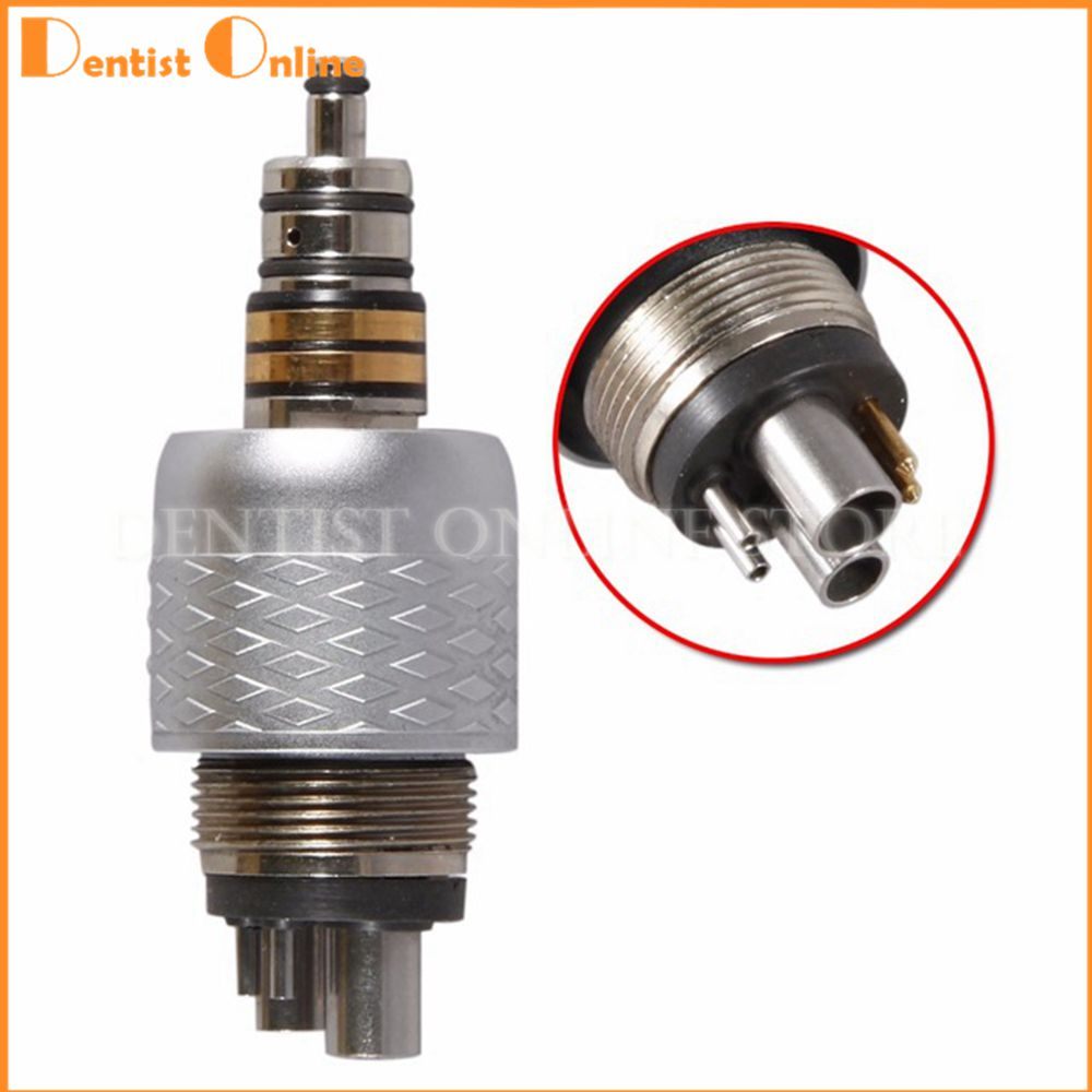 6 Hole Quick Coupler Connect Coupling F/ WH Dental Fiber Optic LED Handpiece dental 6 hole kavo quick coupler connector for fiber optic dental handpiece