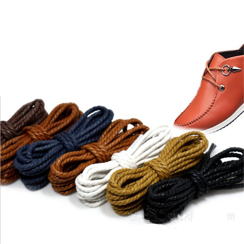 1Pair High Quality Waterproof Shoelace Round Skinny Martin Boots Leather Shoes Shoelace for Men Women1Pair High Quality Waterproof Shoelace Round Skinny Martin Boots Leather Shoes Shoelace for Men Women