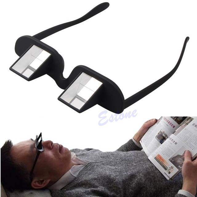 98579b5bee Creative Lazy Periscope Horizontal Reading Glasses Sit-View Prism Spectacles
