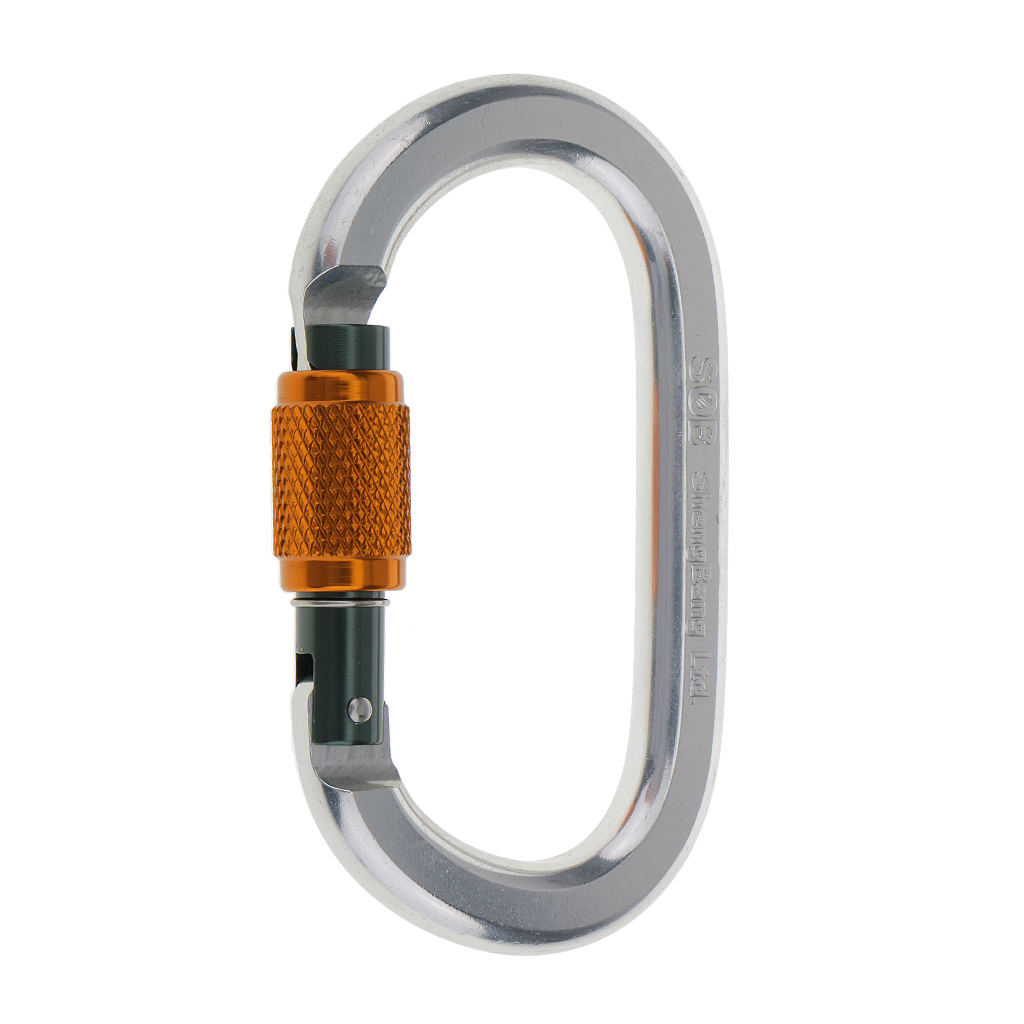 22KN Safety Rock Climbing Tree Arborist Carabiner Rappelling Equipment Gear Outdoor Sports Hiking Accessory for Exploring Rescue