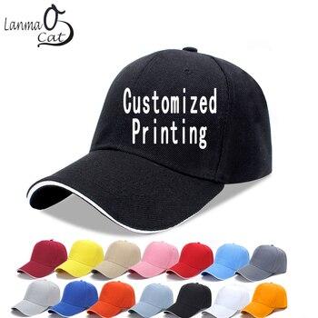 الرجال النساء للتعديل قبعات البيسبول شعار المطبوعة قبعة مخصصة شحان الطباعة البيسبول كاب قبعات للنساء قبعة الشحن المجاني
