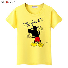 BGtomato Newest Summer 2017 T-shirts For Women cartoon minnie mouse printed T-shirt Top Harajuku Tops Shirt Female