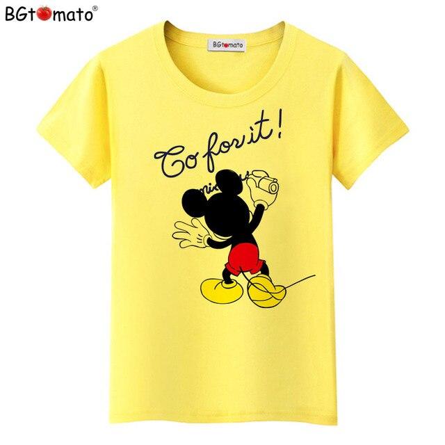 BGtomato Nieuwste Zomer 2017 T-shirts Voor Vrouwen cartoon mickey gedrukt T-shirt Top Harajuku Tops Shirt Vrouwelijke T-shirt