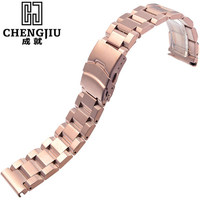 Men's Steel Watch Band For Panerai Rose Gold Stainless Steel Belt Metal Strap Bracelet Thick Top Quality Watchbands 18/20/22/24m