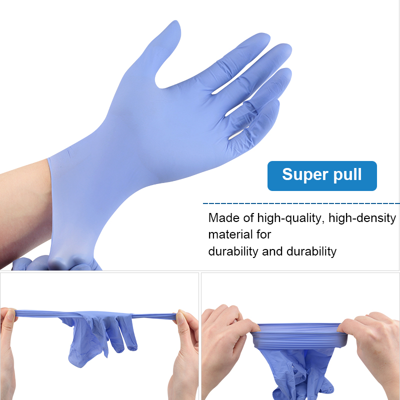 5 Pair Nail Art PVC Rubber Waterproof Elastic Clean Gloves Gel Polish Anti Static Cleaning Gloves For Manicure Nail Art Tool