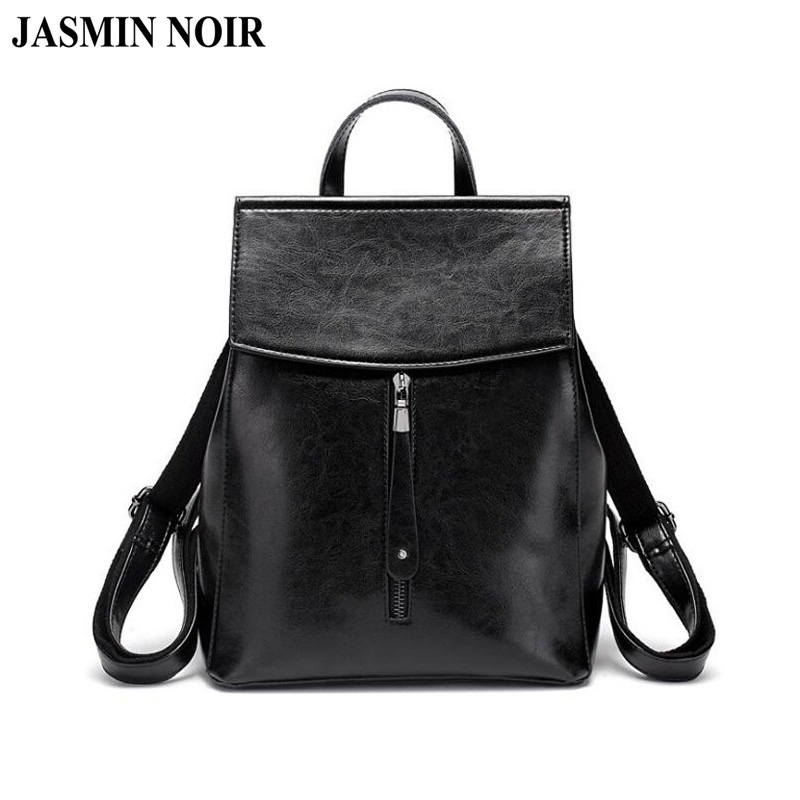 Fashion Designer Women Genuine Leather Backpack Shoulder School Bags for Teenagers Travel Oil Wax Cow Female Knapsack Back BagFashion Designer Women Genuine Leather Backpack Shoulder School Bags for Teenagers Travel Oil Wax Cow Female Knapsack Back Bag