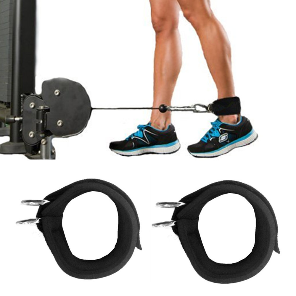 Adjustable D-ring Ankle Strap Buckle Body Building Resistance Band Gym Multi Thigh Leg Ankle Cuffs Power Weight Lifting Fitnes Fine Workmanship Ankle Support Sports & Entertainment
