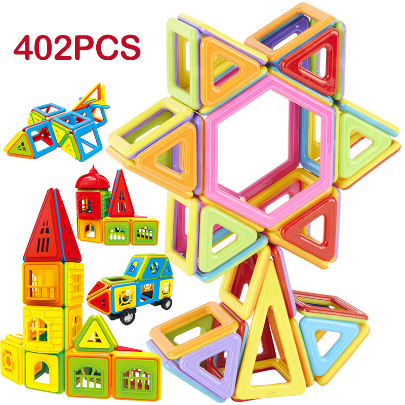 115-402pcs DIY Magnetic Building Blocks Designer Construction Toys Set Model Magnet Educational Hobbies Toys For Children Gifts цены