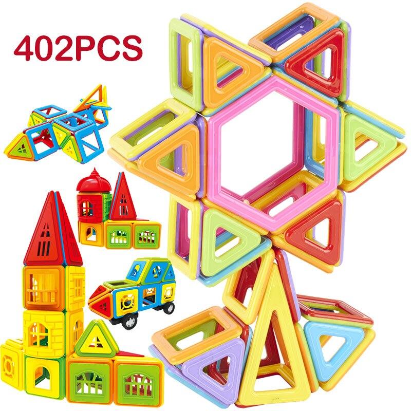 115-402 stücke DIY Magnetische Bausteine Designer Bau Spielzeug Set Modell Magnet Pädagogisches Hobbies Spielzeug Für Kinder Geschenke