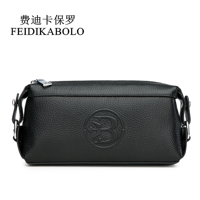 FEIDIKABOLO Genuine Leather Men Wallets Men's Purse Clutch Bags Handy Bag Portable Long Male Purses Carteira Masculina Man Walle joyir men wallet genuine leather wallet luxury long clutch bags men leather walle purse business handy bag carteira masculina