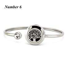 20MM Essential oil Bracelet Tree of Life Diffuser bangles for Women Stainless Steel magnetic Bangles Jewelry (Free with 5pads)