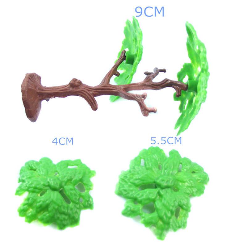 2 sztuk zielony z tworzywa sztucznego model architektoniczny drzewa pejzaż z pociągiem krajobraz Park kolejowy sosna zestawy do budowania zabawki
