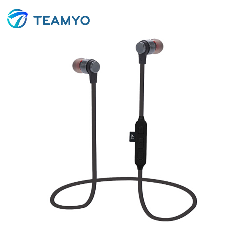 Teamyo Bluetooth Earphone Metal Magnetic Wireless Earphones Stereo TF Card With Mic Stereo Earbud Earphones For A Mobile Phone