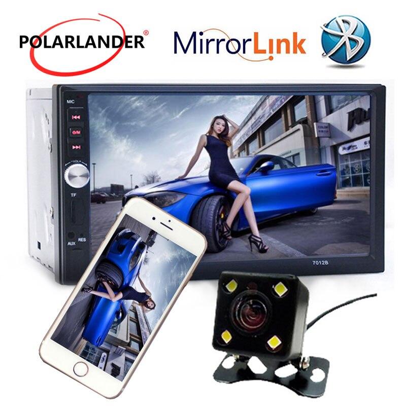 4 langue 7 Bluetooth Voiture Audio Stéréo MP5 Lecteur 2 din Vidéo audio AUX FM USB TF avec Télécommande contrôle Miroir Lien Pour Andriod
