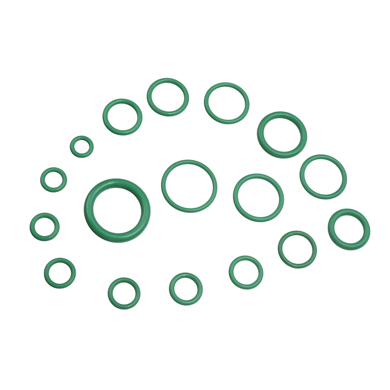 270Pcs Green Car Auto Vehicle Repair Air Conditioning HNBR Seals Assortment Kit 18 Sizes Car Air Conditioning Rubber O-Ring Tools