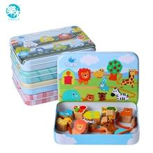 Деревянные игрушки Logwood, детские игрушки DIY, Мультяшные фрукты, животные, нанизанные резьбы, деревянные бусины, игрушки Monterssori, Обучающие для детей