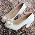Sapatos de Salto alto Mulheres Sapatos de Casamento Sapatos Brancos Mulheres Sy-1662