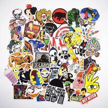 7 Styles Cartoon Stickers 50Pcs/pack Random Classic Fashion Style Graffiti For macbook Laptop Moto car Suitcase sticker