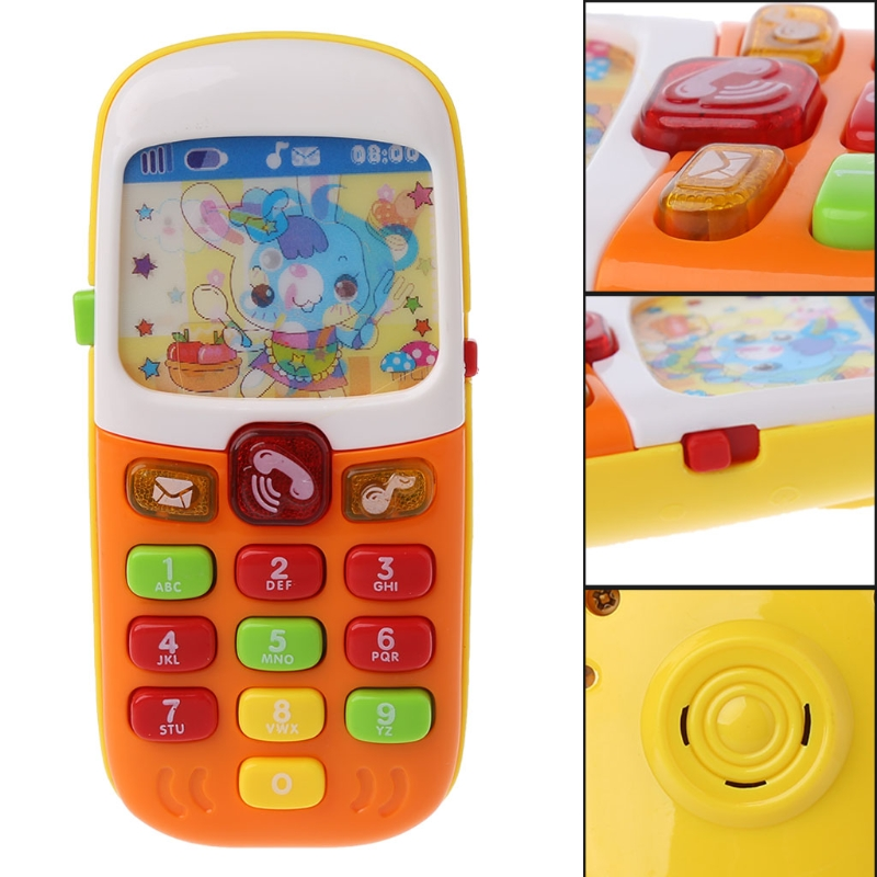 Kid Phone Music Toy Baby Mobile Phone Educational Learning Toys Electronic Toy  Smart Phone Toys For Children  Sound Button
