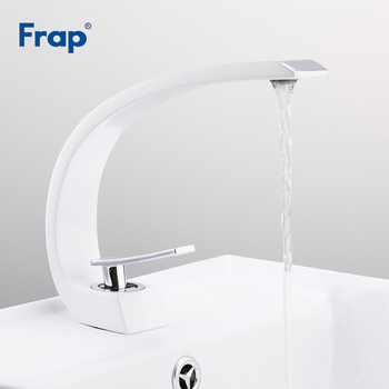 FRAP basin faucets white bathroom sink mixer brass tap chrome basin faucet waterfall taps mixers griferia 1