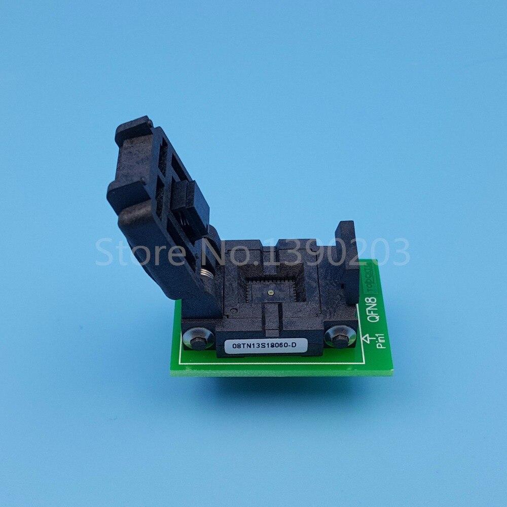 QFN8 MLF8 MLP8 à DIP8 (B) pas 1.3mm 8x6mm IC programmeur adaptateur prise de Test - 3