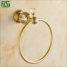 Bathroom Accessories Brass & Crystal Gold Titanium Toilet Brush Holder,Golden Bathroom Products