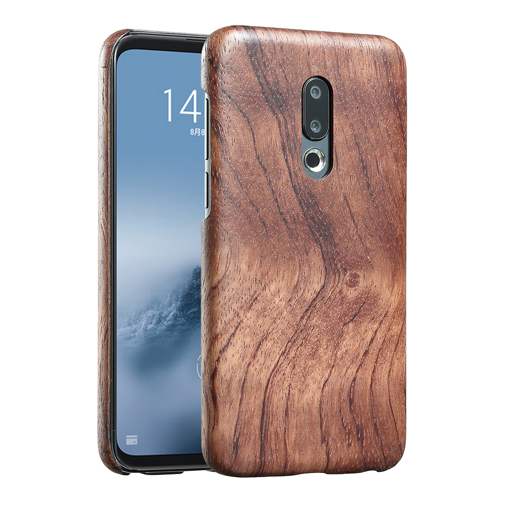 Image 3 - walnut Enony Wood Rosewood MAHOGANY  Wooden Slim Back Case Cover For Meizu 16th /16th PlusFitted Cases   -