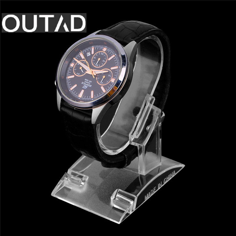 OUTAD Clear Acrylic Watch Display Holder Stand Rack Showcase Tool Transparent Wristwatch Lightweight Stand Case