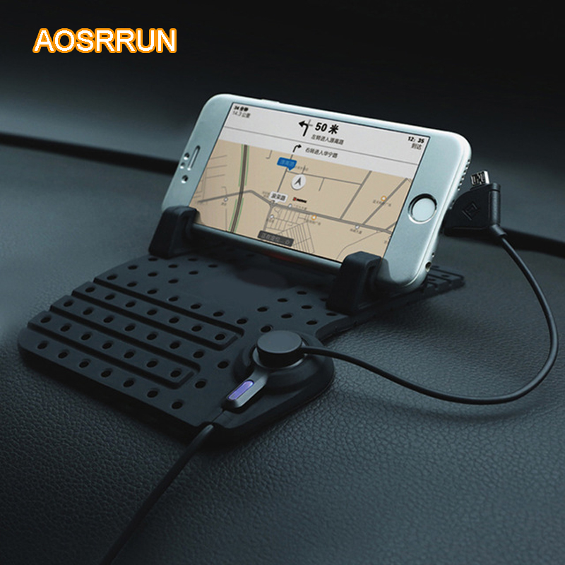 AOSRRUN Car Anti Slip pad Rubber Mobile Phone Mat For skoda Octavia A5 A7 FOR skoda Fabia superb 2009 2010 2011 2012 2013 2014 executive car