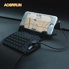 AOSRRUN Auto Anti Slip pad In Gomma Stuoia Del Telefono Mobile Per skoda Octavia A5 A7 PER skoda Fabia superb 2009 2010 2011 2012 2013 2014