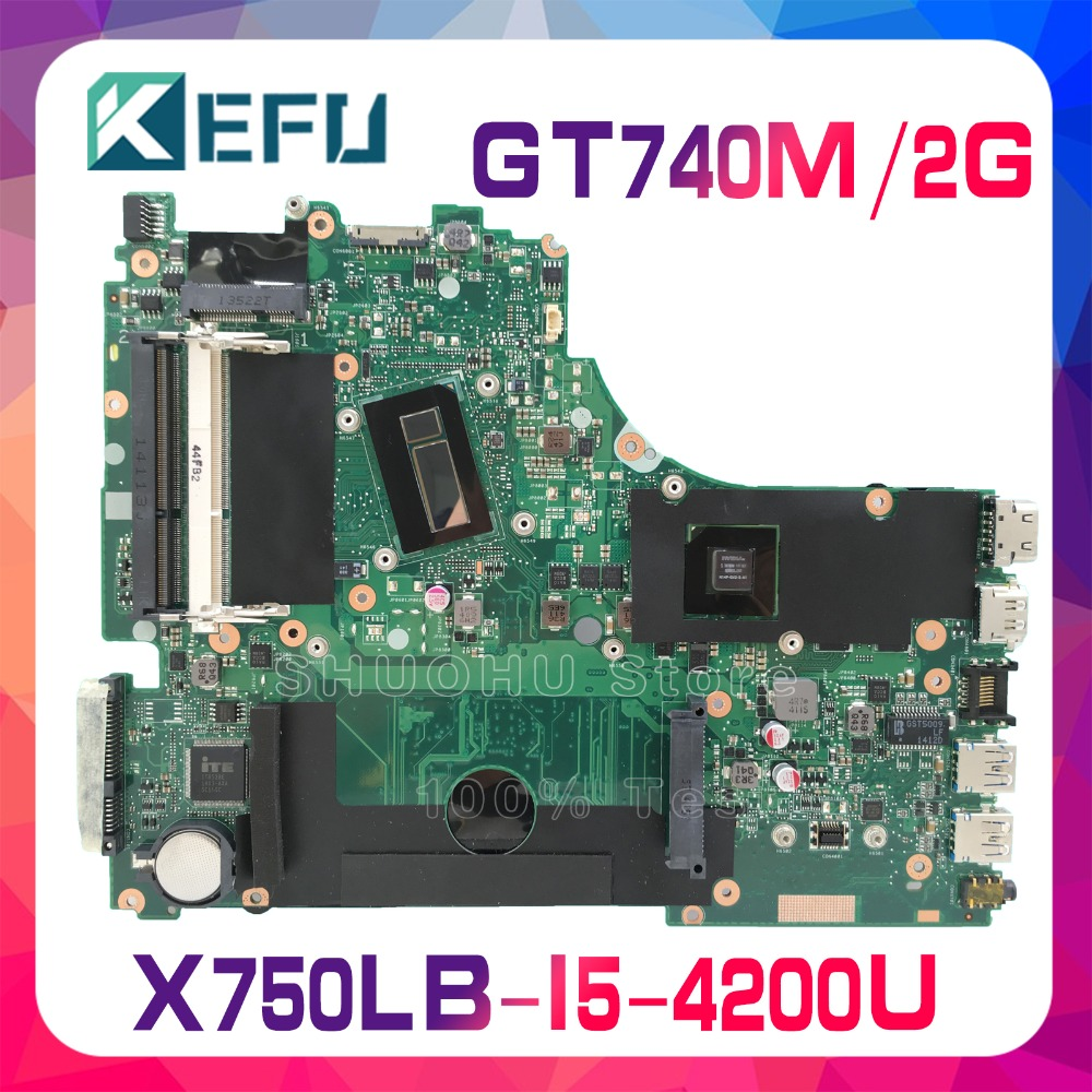 KEFU For <font><b>ASUS</b></font> <font><b>X750LB</b></font> X750LN X750L K750LB I5-4200U GT740M laptop motherboard tested 100% work original mainboard image