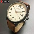 2016 Relojes Curren hombres Deportes Relojes de pulsera de Cuero Relojes de Cuarzo Para Hombre Relojes de Primeras Marcas de Lujo Del Relogio Relojes de Los Hombres 8218