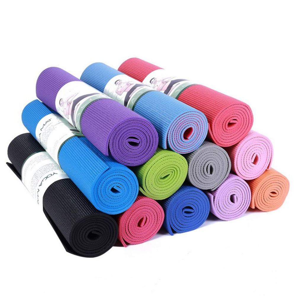 173*61*0.4 CM <font><b>Yoga</b></font> <font><b>Mat</b></font> <font><b>4MM</b></font> Non-slip Fitness Sports Exercise <font><b>Mat</b></font> Gym Pilates Pad Waterproof Outdoor Mattress For <font><b>Yoga</b></font> Beginner image