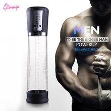 Electric Male Penis Pump Vacuum Penis Enlargerment Auto-Powered Men Strong Suction Air Penis extender Adult Sex Toys for Men
