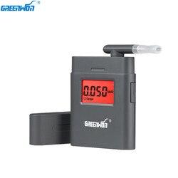 GREENWON Prefessional Respiração Portátil Alcohol Analyzer Digital Bafômetro Tester Alcoholicity Medidor de Corpo de Detecção De Álcool