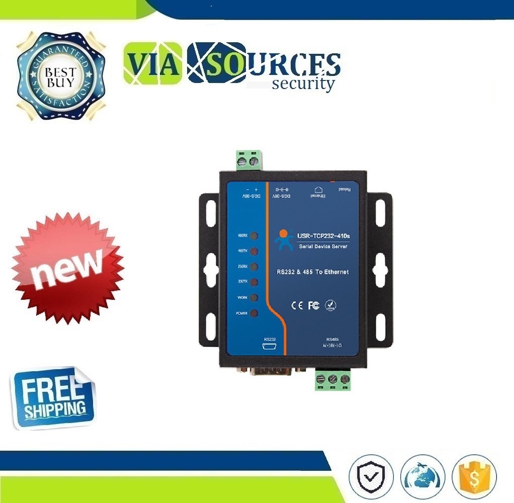 USR-TCP232-410s Industrial Grade Ethernet Converters Serial RS232 And RS485 To RJ45Support Httpd Client Modbus TCP