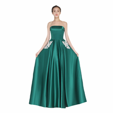 Floor Length Elegant Bridesmaid Dress Tube Top Sexy Women Pr